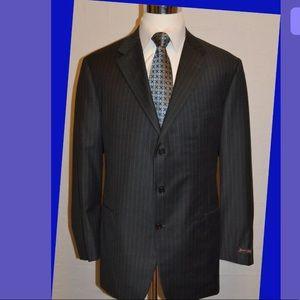 Hickey Freeman Madison LORO PIANO WOOL Suit 48 Lng